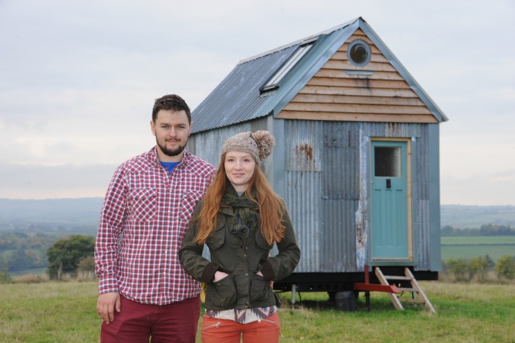 Little Birch couple Christian Montez & Kyra Powell are to feature on 'George Clarke's Amazing Spaces' TV programme after building a cabin out of recycled materials.